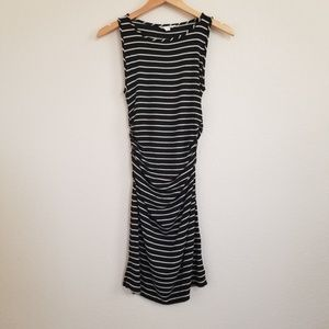 Athleta Striped Stretch Fitted Dress Medium